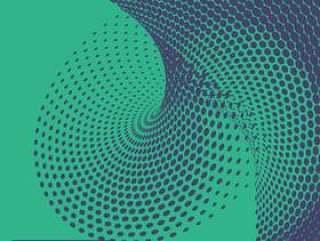 抽象的波浪半色调图案背景