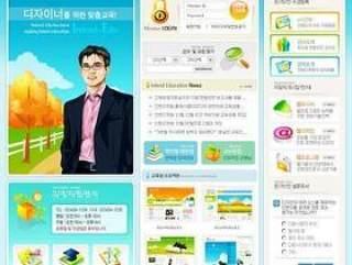 韩国网络公司网站模板(01)