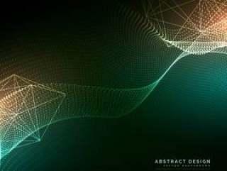 数字粒子流动背景在网络技术风格