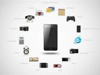 智能手机应用创意PSD分层