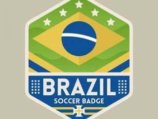 巴西世界杯足球徽章