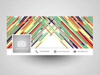 抽象的社交媒体封面设计