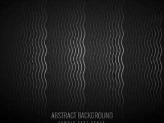 典雅黑暗的黑色背景与波模式