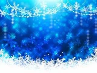 圣诞节背景图像 - 蓝色