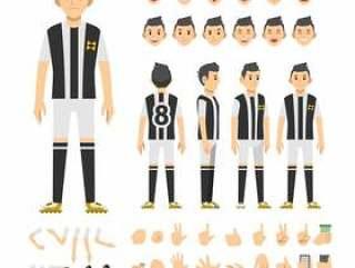 足球运动员男子字符集