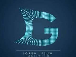 抽象的创意点标志字母G