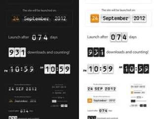 时间与日期显示牌——psd分层素材