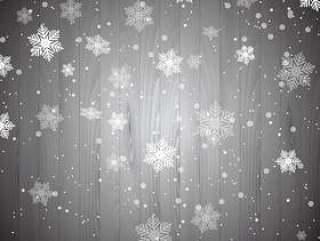 在木头上的圣诞雪花