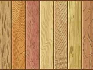 各种各样的木材纹理 矢量