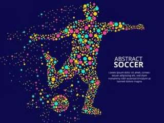 抽象的足球球员矢量