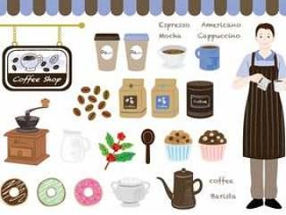 咖啡厅材料