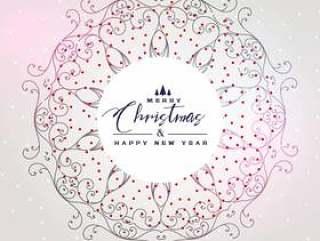 与曼陀罗装饰的美好的圣诞节背景