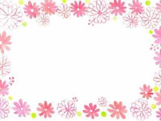 粉红色的花园框架
