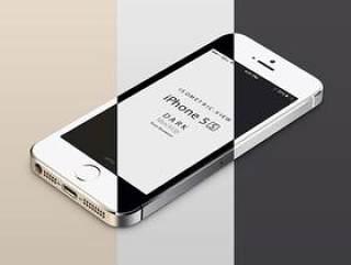 三色 iPhone 5S模型PSD