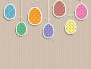 在纸板纹理的复活节彩蛋