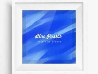 抽象的蓝色海报