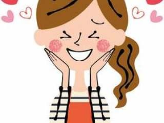 快乐的心快乐的围裙妇女