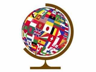 地球仪 国旗