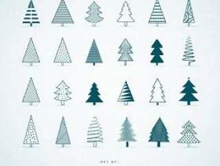 20创意圣诞树设计的集合