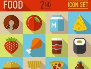 扁平化食物图标
