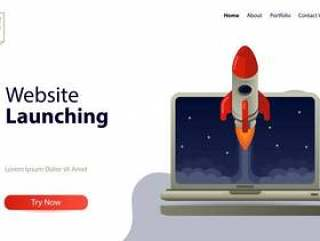 Landing page template website launching