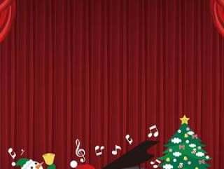圣诞老人的钢琴音乐会帧垂直