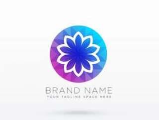 充满活力的花logo设计理念