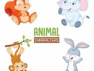 矢量图的卡通动物