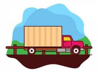 移动的卡车插图
