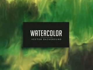 令人敬畏的绿色水彩纹理背景