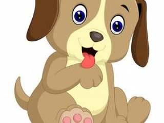 可爱的小狗卡通
