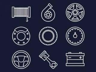 Carshop Web图标集
