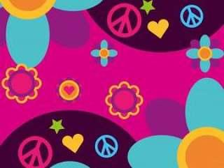 自由精神音乐乙烯基圆盘花心脏和平和爱