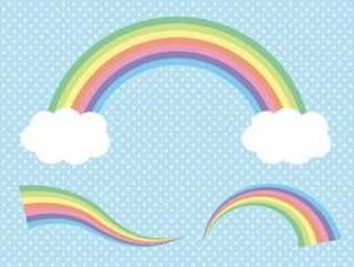 柔和的颜色彩虹刷
