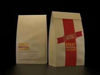 【3PSD]食品纸袋包装智能模板