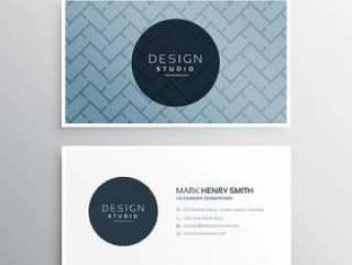 公司名片设计模板与抽象的线条图案