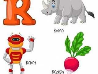 R字母表的例证