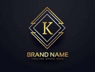 字母K的豪华线标志