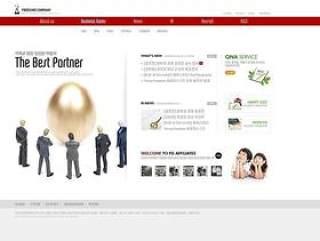 企业网页设计模板PSD分层