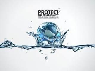水之创意系列PSD分层素材-4