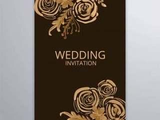 抽象婚礼典雅的小册子设计