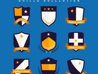 扁平化盾牌设计