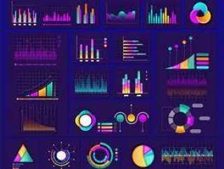 信息图表图表,图表和图形集。