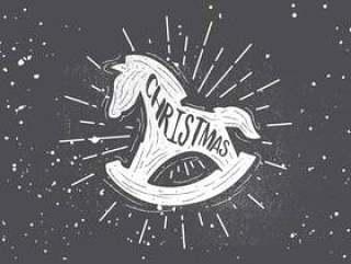 手绘圣诞矢量背景