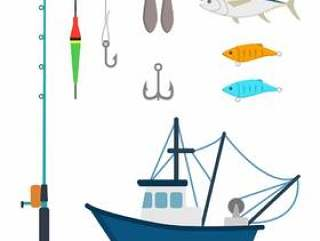 平的渔向量