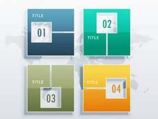 信息图表矢量模板与业务让步的四个选项