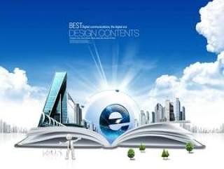 商务系类:科技PSD分层素材