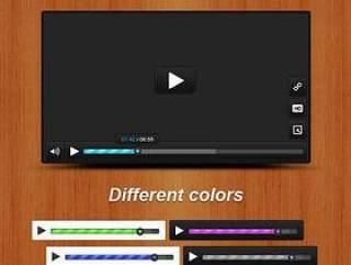 网络视频播放界面PSD分层