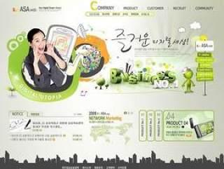 企业网站模板PSD分层(766)