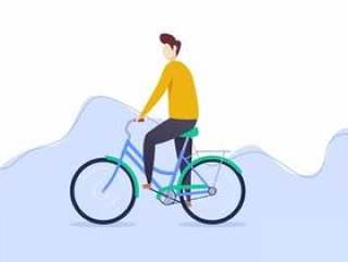 突出骑自行车载体